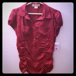 Beautiful soft red Michael Kors blouse